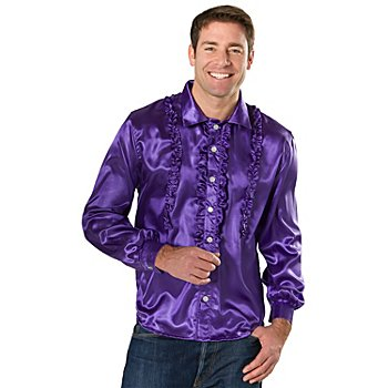 Chemise 'froufrou' homme, violet