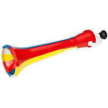 Grande trompe de clown, multicolore
