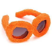 Plüsch-Brille, orange