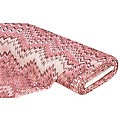 "Tissu filet ""zig-zag"", rose/multicolore"