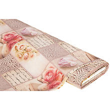 Canvas 'Vintage-Rosen', natur-rose-color