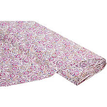 Tissu jacquard 'Nona', rose/or multicolore