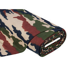 Fleece 'Camouflage', braun-color