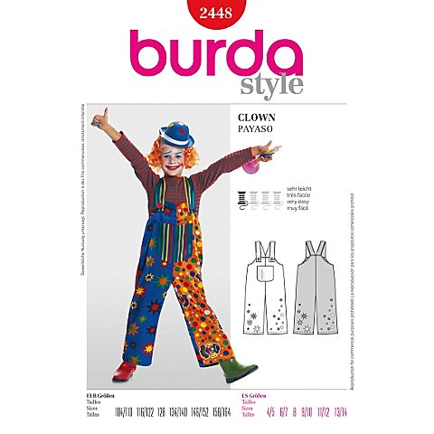 burda Schnitt 2448 Clown-Hose