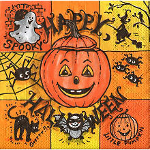 Papierserviette 'Happy Halloween'