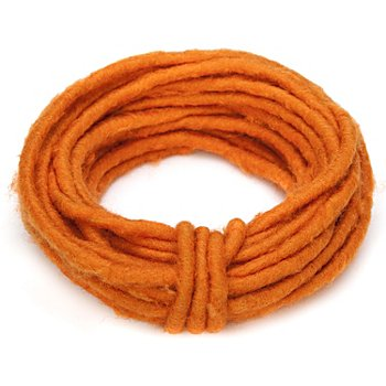 Cordon en feutrine, orange, 8 - 9 mm, longueur : 2 m
