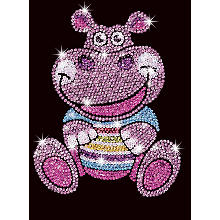 Sequin Art Paillettenbild 'Hippo'