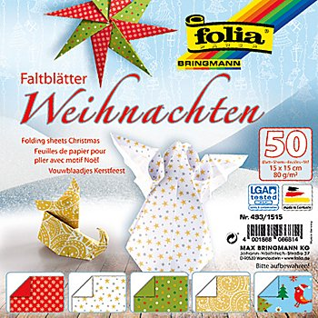 folia faltbl tter weihnachten 15 x 15 cm 50 blatt. Black Bedroom Furniture Sets. Home Design Ideas