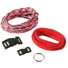 Paracord Starter-Set, rot-rotmix, 5-teilig, 4 mm