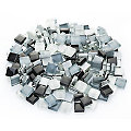 Softglas-Mosaik, grau-mix, 10 x 10 mm, 200 g