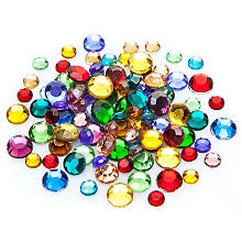 Pierres strass, multicolore