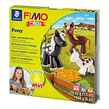 Kit créatif Fimo kids form & play 'Poney'