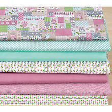 Lot de 7 coupons patchwork