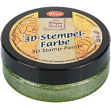 3D-Stempelfarbe 'grün-metallic', 50 ml