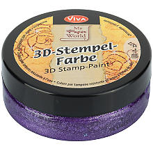 3D-Stempelfarbe 'violett-metallic', 50 ml