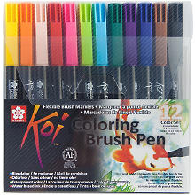 Sakura Koi Coloring Brush Pen-Set, bunt, 12 Stück