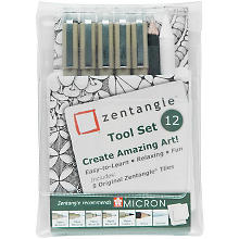 Zentangle® Tool Fineliner, schwarz, 12er Set