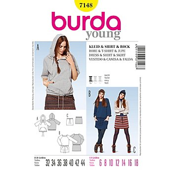 burda Schnitt 7148 'Sweat-Modelle Young'