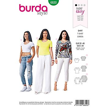 burda Schnitt 6820 'Basic Shirt'
