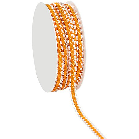 Schmales Band, orange, 7 mm, 5 m
