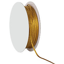 Satinkordel, gold, 2 mm, 20 m