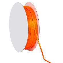 Cordelette en satin, orange, 2 mm, 20 m