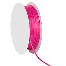 Cordelette en satin, rose vif, 2 mm, 20 m