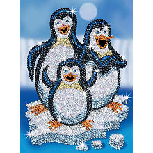 Sequin Art Paillettenbild 'Pinguine'