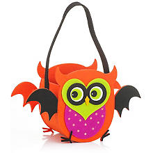 Sac en feutrine 'hibou', orange