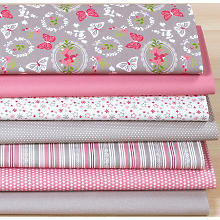 Lot de 7 coupons de tissu patchwork