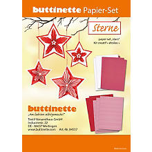 Papier-Set 'Sterne', rot-weiss, 12 Sterne
