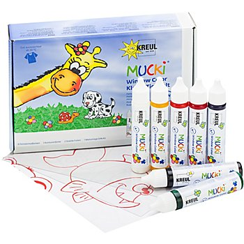 Mucki Set de peintures Window Color, 7x 29 ml