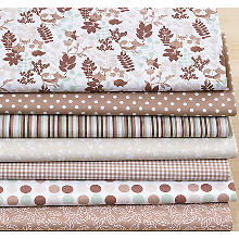 Patchwork- und Quiltpaket 'Fox & Forest', taupe-color