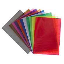 Papier transparent, multicolore, A4, 50 feuilles