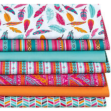 Lot de 7 coupons de tissu patchwork 'Boho'