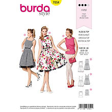 burda Patron 'robe rétro & haut Top Young'