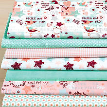 Lot de 7 coupons de tissu patchwork 'Great Love'