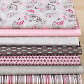 "Lot de 7 coupons de tissu patchwork ""Vintage Paris"""