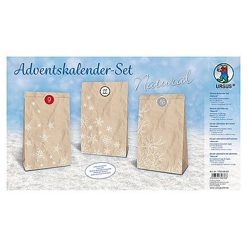 Ursus Adventskalender-Set Natural