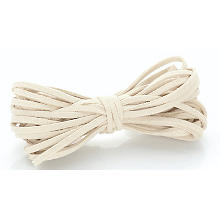 Velourslederband, creme, 3 mm, 5 m