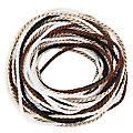 "Set de cordelettes ""tons marron"", 2 mm, 5x 2 m"