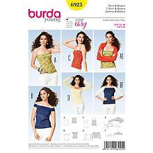 Patron burda 6925 'shirt & boléro Young'