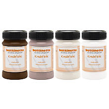 buttinette Set de 4 peintures à la craie, tons marron, 4x 100 ml