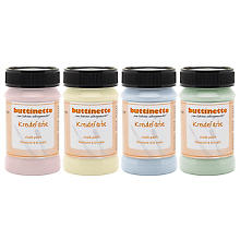 buttinette Set de peintures à la craie, multicolore, 4x 100 ml