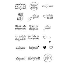 Clear Stempel-Set 'handmade'
