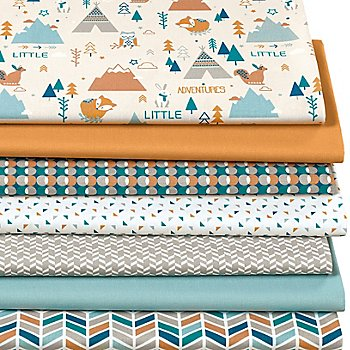 Patchwork- und Quiltpaket 'Little Adventure', natur-color