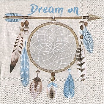 Papierserviette 'Dream on', 33 x 33 cm, 20 Stück