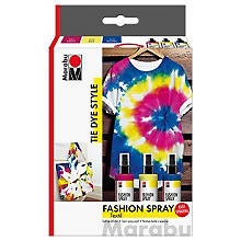 Marabu Fashion-Spray-Set 'Tie Dye', 3x 100 ml