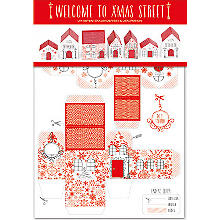 Adventskalender-Set 'Welcome to X-Mas Street', rot-weiss