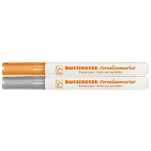 buttinette Porzellanmarker, gold/silber